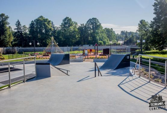 Wąchock - skatepark from Polish company - Techramps