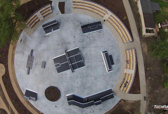 Skatepark - Pisz- foto de drone