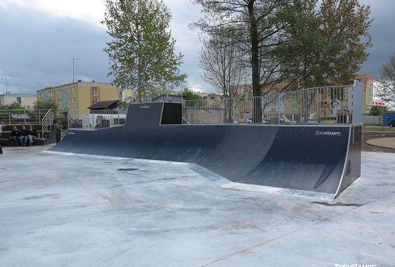 Ramp en skatepark en Pisz