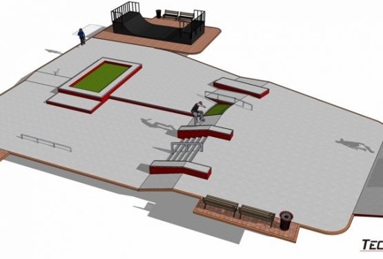 Visualisation 3D - skatepark Stepnica