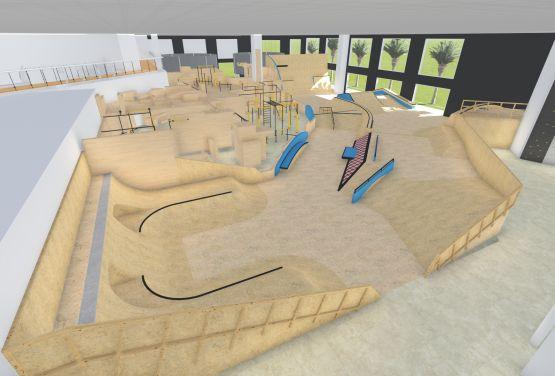 Skatepark and flowpark in Dubai