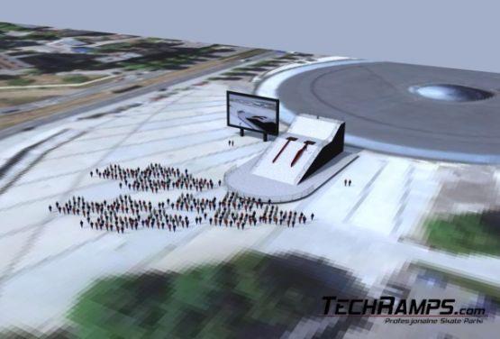 Visualisation of snowpark project in Katowice