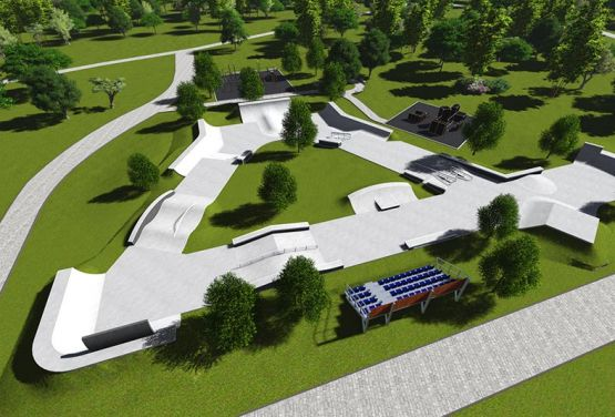 Project of concrete skatepark Iżewsk