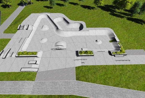 Projekt des Skateparks für Swarzędz