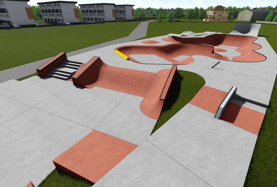 Visualisierung des Skatepark in Wejherowo