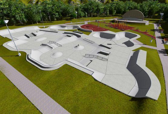 Konzeption des Skateparks für die norwegische Stadt - Brumunddal