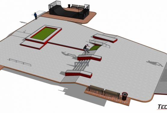 Visualización 3D - Skatepark Stepnica