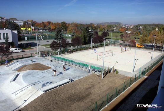 Będzin - skatepark betonowy