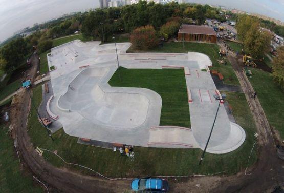 Widok na skatepark w Moskwie