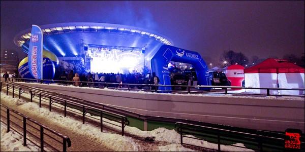 Widok na snowpark w Katowicach
