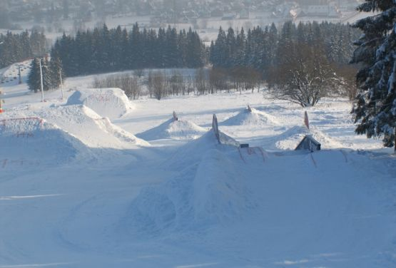 Widok na snowpark - Białka Tatrzańska