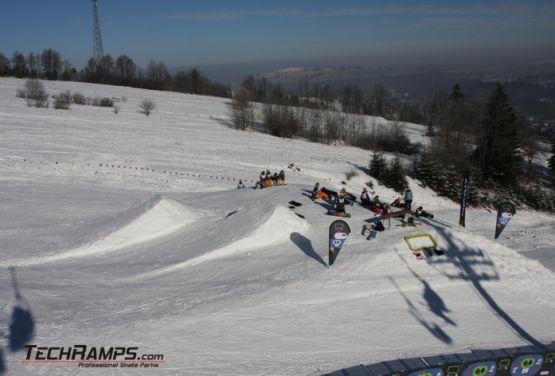 Widok na snowpark (Witów)