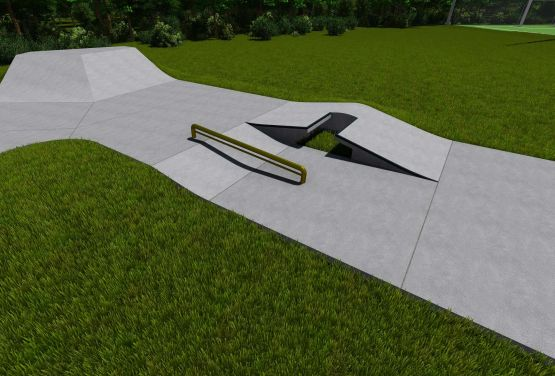 Betonowy skatepark  w Kalwarii - projekt - Kalwaria