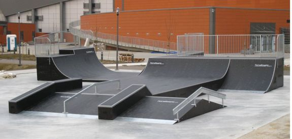 Wooden modular skatepark in Szczecin (Poland)