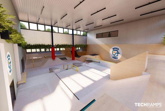 Indoor skatepark in Warsaw