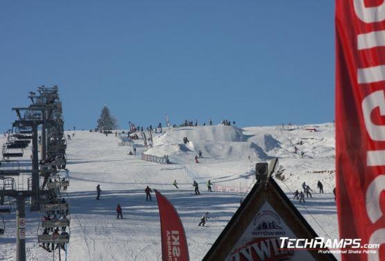 Wyciąg w snowparku - Witów