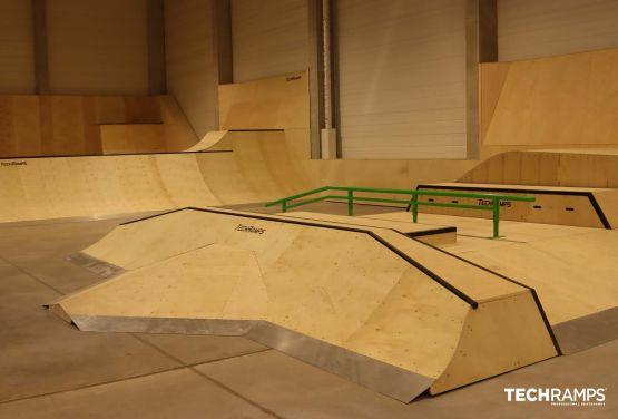 Indoor skatepark in Cracow