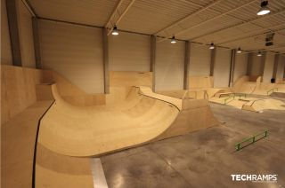 Indoor skatepark Techramps