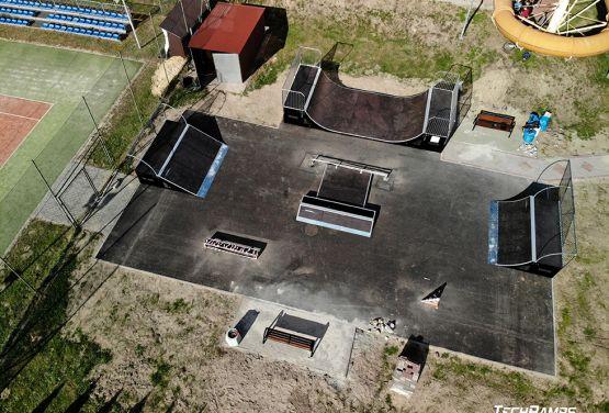 Skatepark w Głogowie Małopolskim - zdjęcie z drona